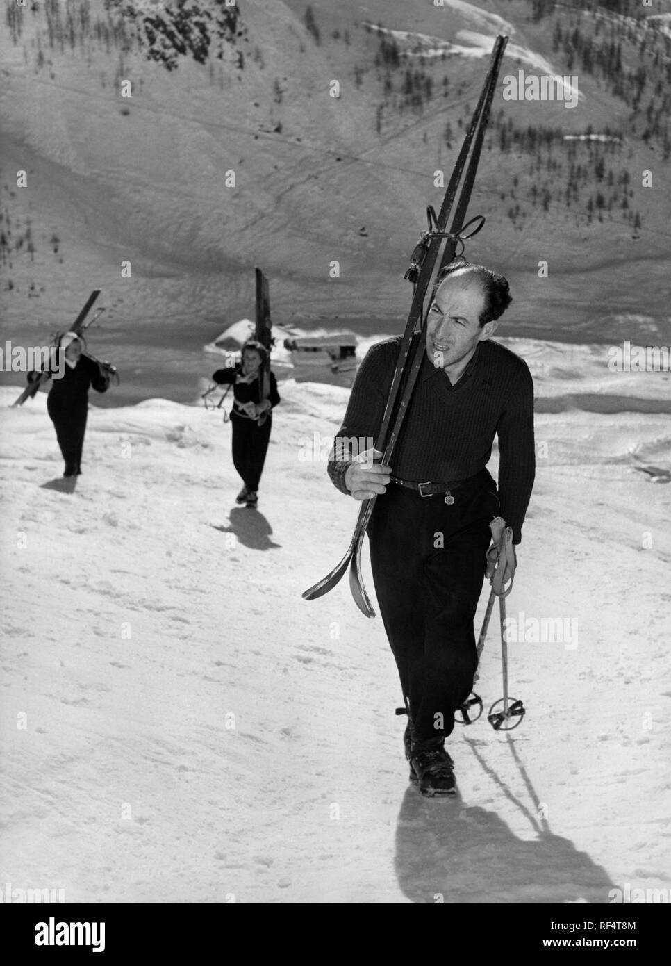 zeno colò, alpine ski racer, 1952 - Stock Image