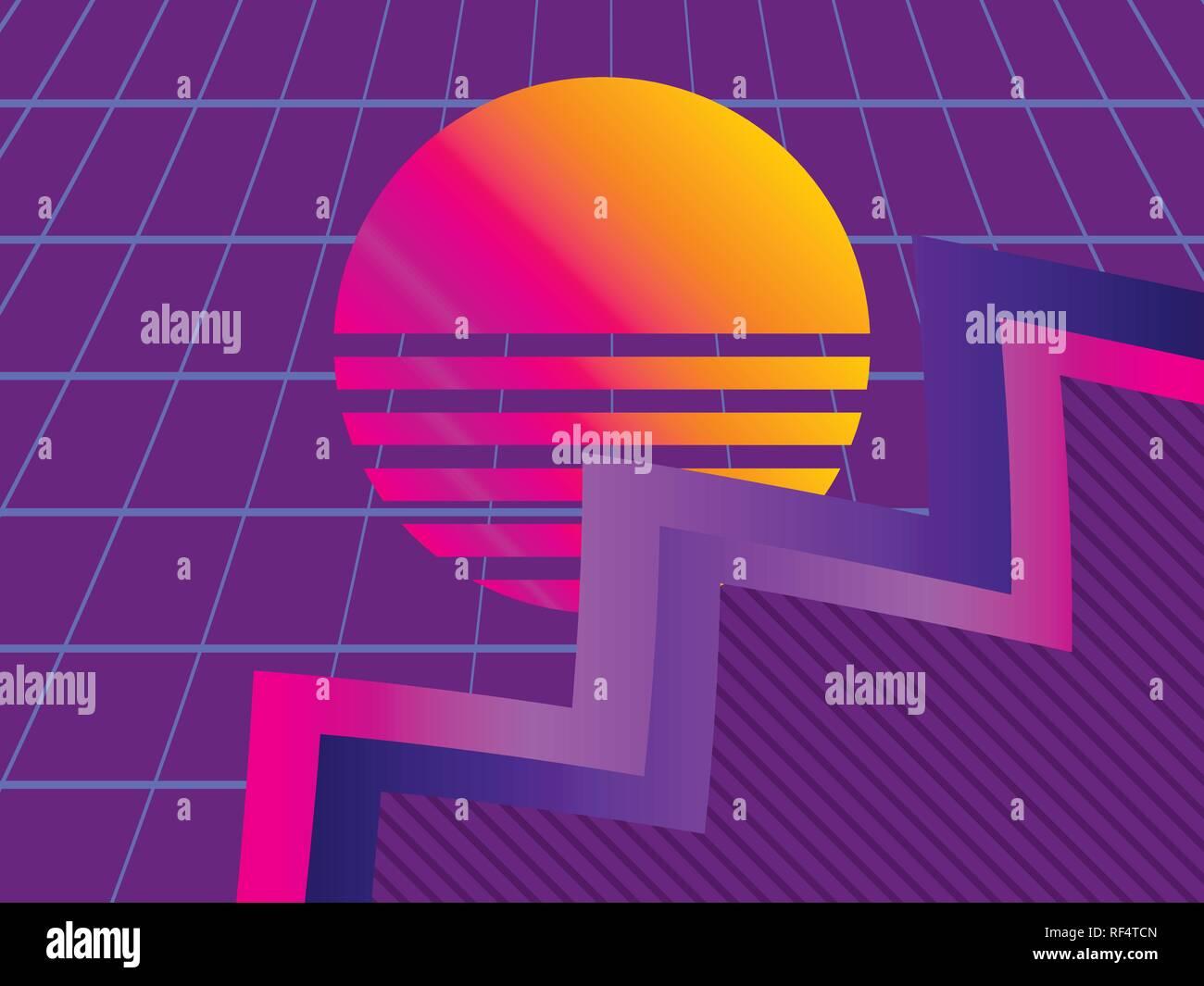 Liquid wave, violet gradient  Modern trend background  Synthwave