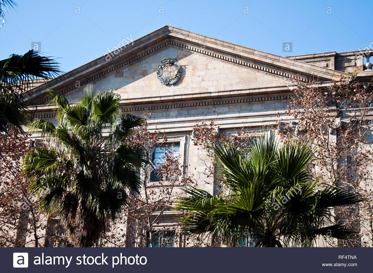 La Lonja de Mar, sede de la Cámarade Comercio de Barcelona, Barcelona ciudad, Ciutat Vella, España - Stock Image