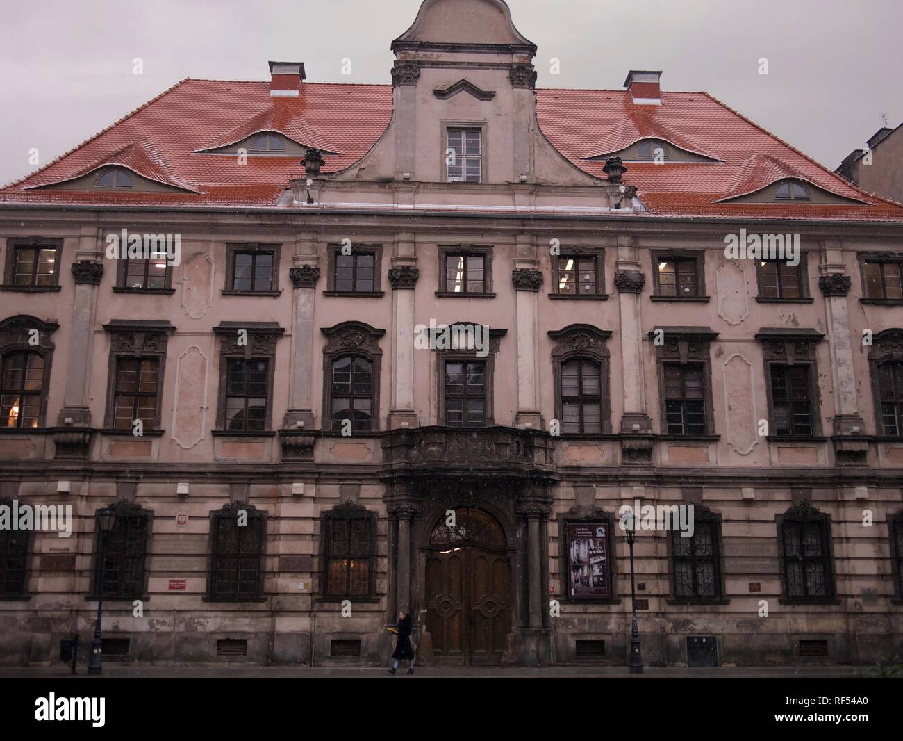 Architecture of the Museum of Man aka Muzeum Czlowieka in Wroclaw, Poland - Stock Image