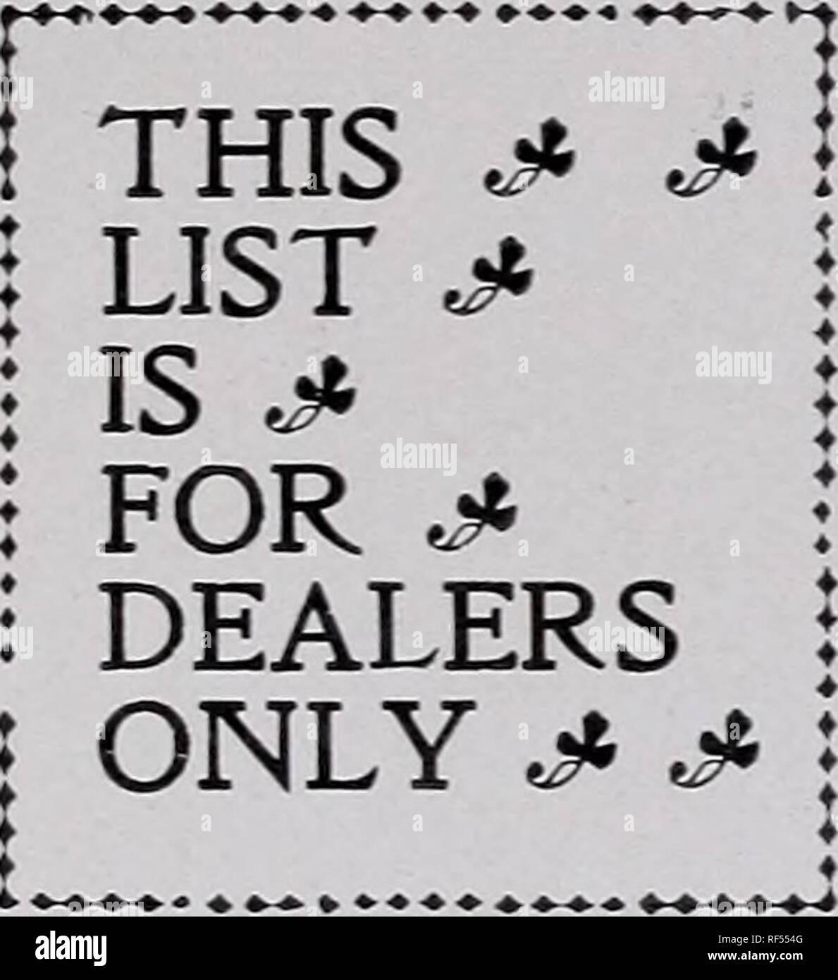 Webster's mammoth packet & bulk seeds : trade price list