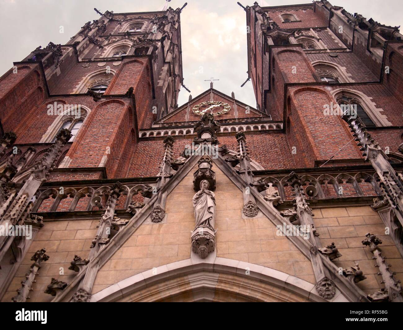 St. John the Baptist Cathedral in Ostrow Tumski, Wroclaw, Poland Stock Photo