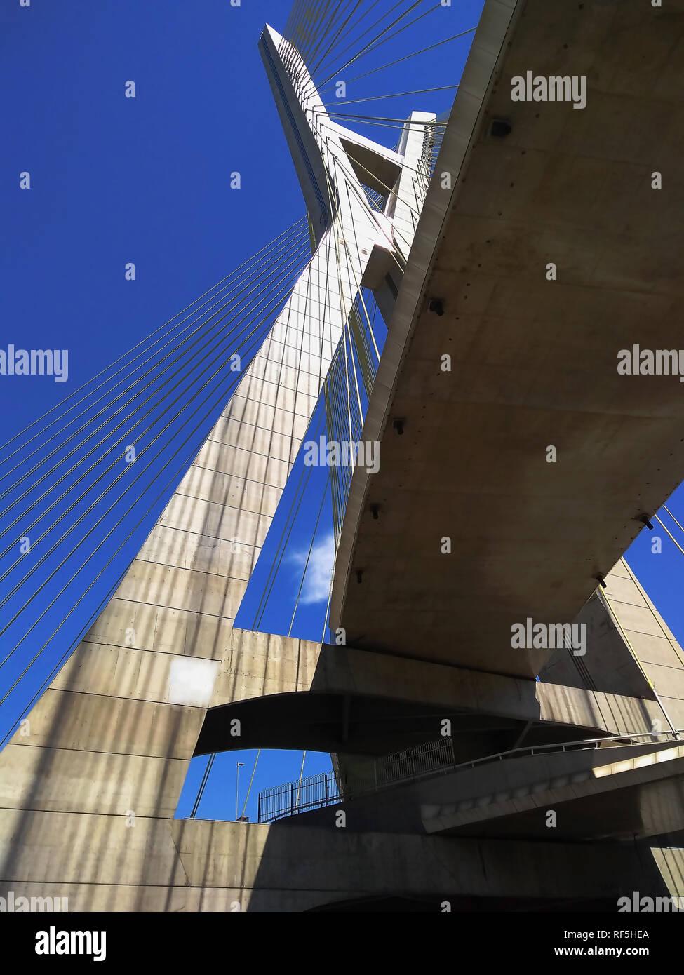 Modern architecture. Modern bridges. Stock Photo