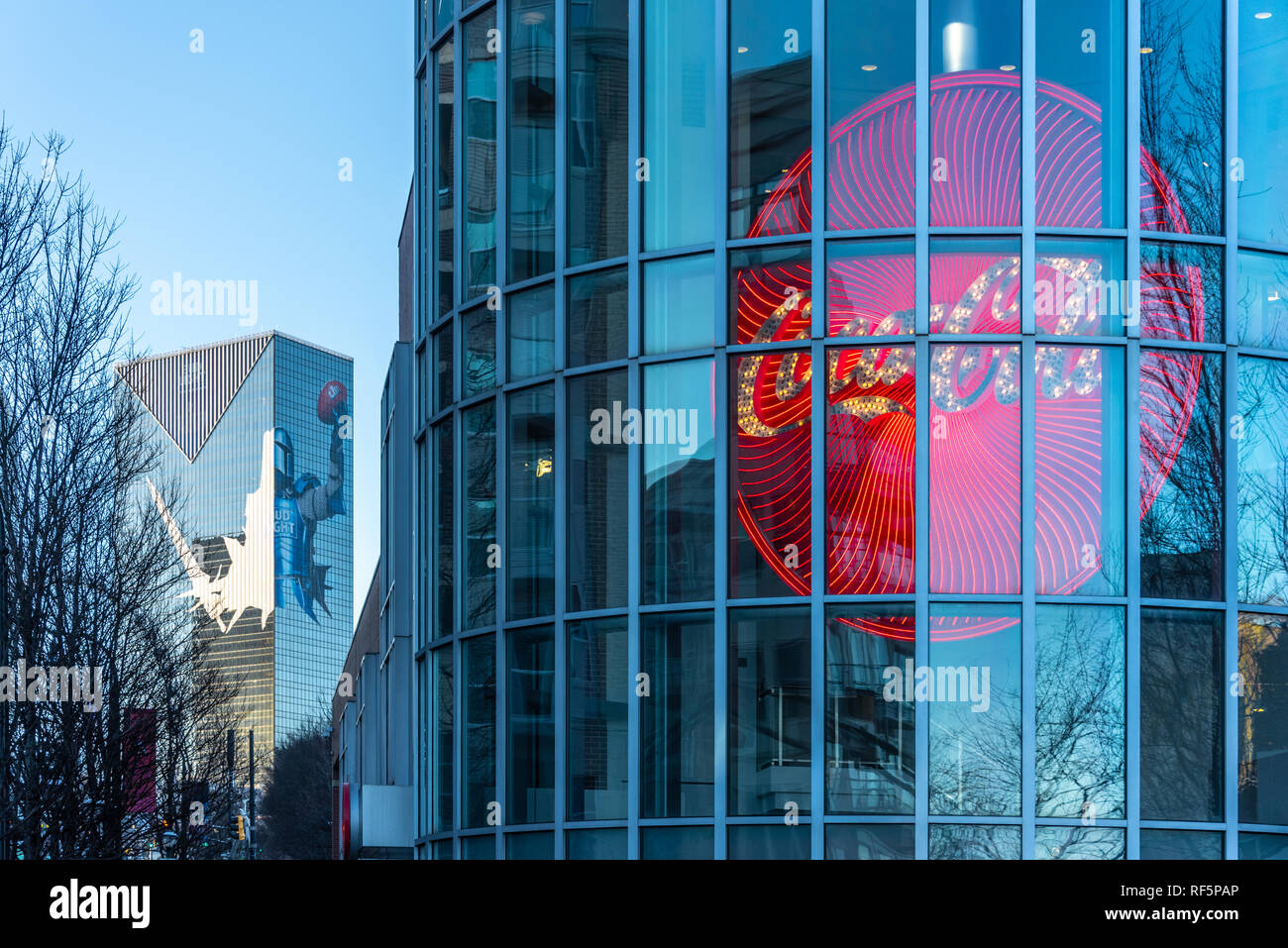 World of Coca-Cola in downtown Atlanta, Georgia, adjoining Centennial Olympic Park. (USA) - Stock Image