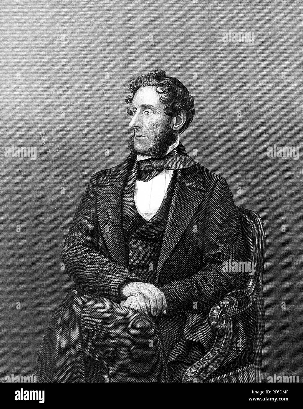 ANTHONY ASHLEY-COOPER,7th Earl of Shaftesbury (1801-1885) British politician, philanhropist and social reformer - Stock Image