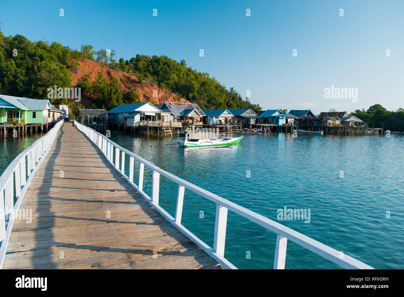 Morning View Of Pandan Island In Sambujan, Tolitoli, Central Sulawesi, Indonesia - Stock Image