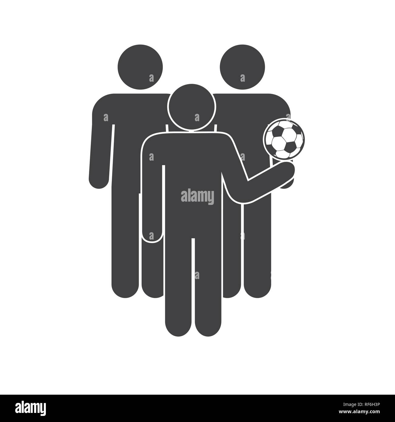 Football fans icon on white background for graphic and web design, Modern simple vector sign. Internet concept. Trendy symbol for website design web button or mobile app. - Stock Image