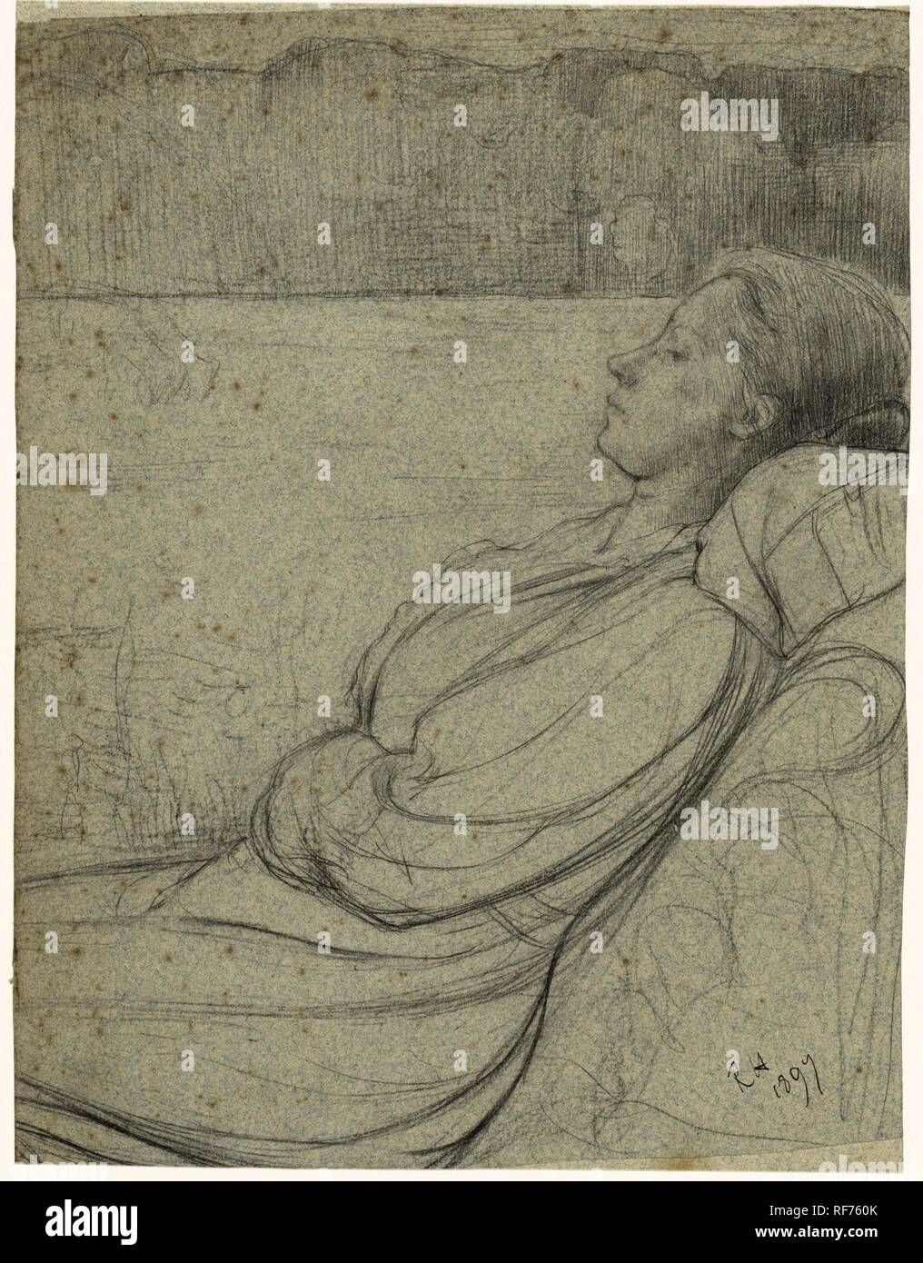 Henriette Roland Holst Van Der Schalk Lying In A Chair