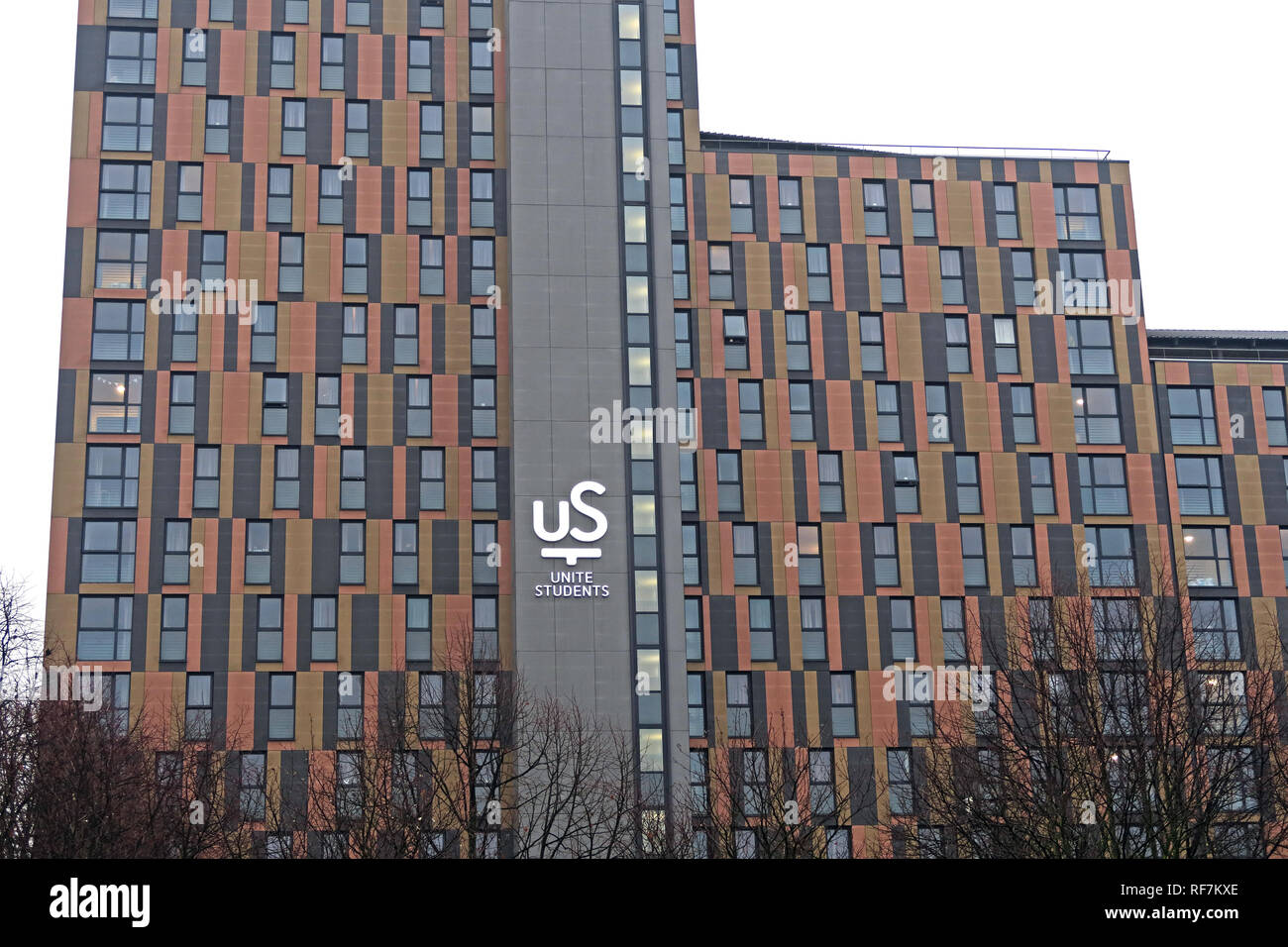 Piccadilly Point, Unite Student Accommodation,  23 Berry Street , Central Manchester, North West England, M1 2AD - Stock Image