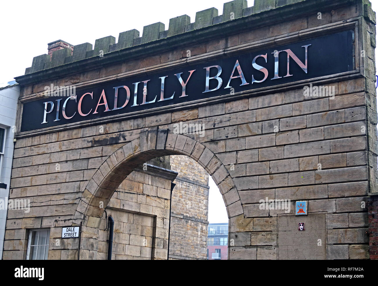 Piccadilly Basin Arch, Car Park, Dale Street, Manchester, UK, M1 2HG - Stock Image