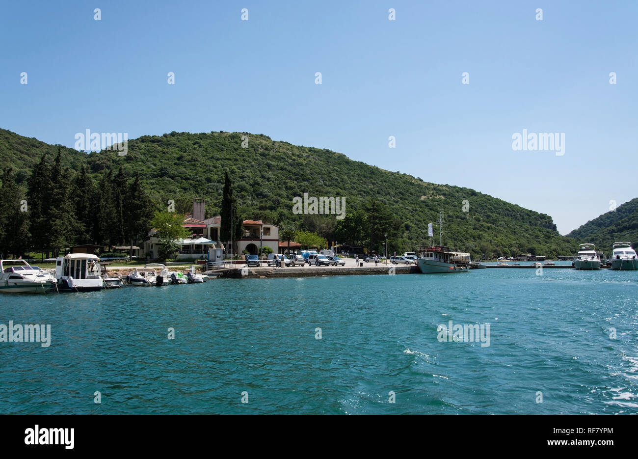 The Limski canal is a narrow inlet between Vrsar and Rovinj on the west coast Istriens in Croatia. Geologically it does not concern with the Limski ca - Stock Image