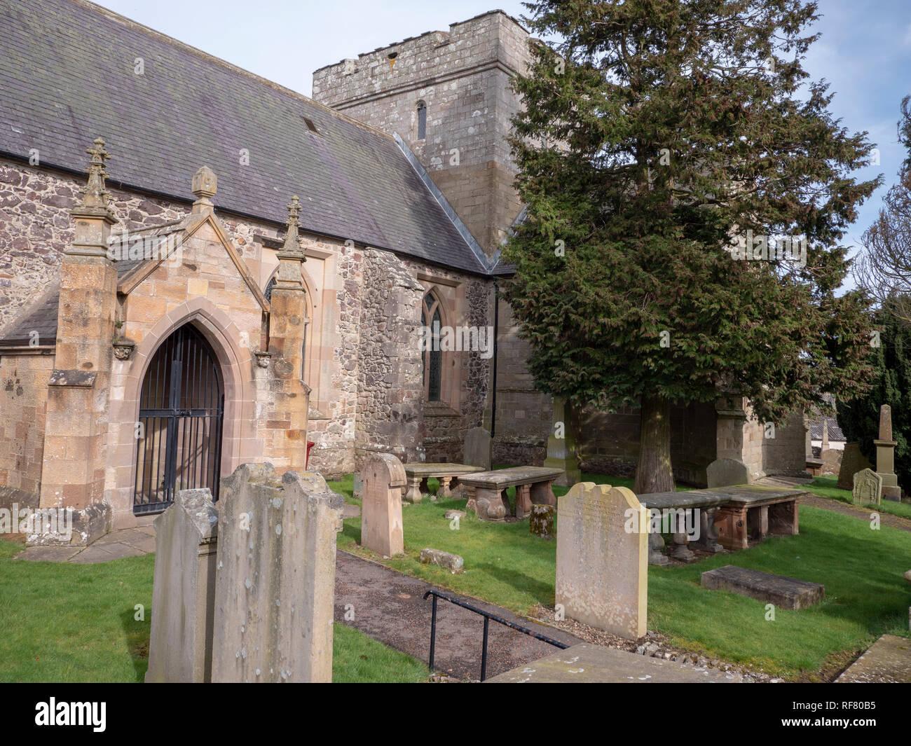 Biggar Kirk or Church of St Mary, Biggar, South Lanarkshire, Scotland, UK. - Stock Image