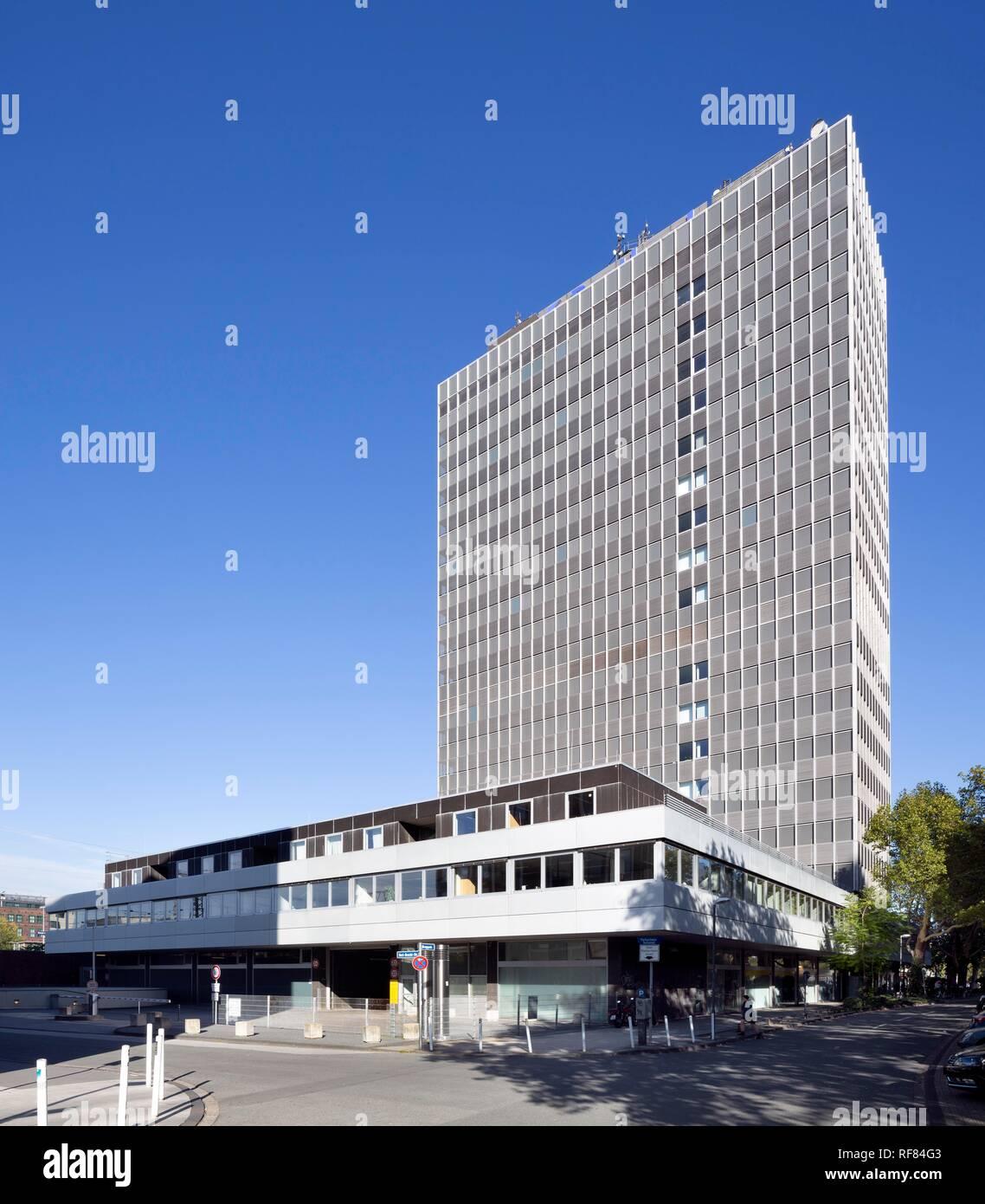 Postal check office or Postbank tower, Essen, Ruhr area, North Rhine-Westphalia, Germany - Stock Image