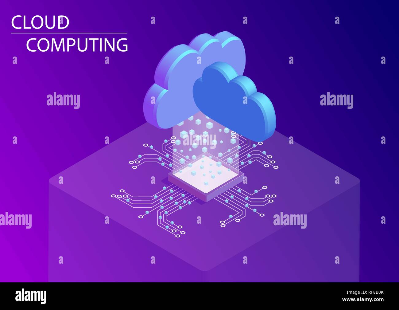 Cloud computing and as a service concept. 3d isometric vector illustration. - Stock Vector