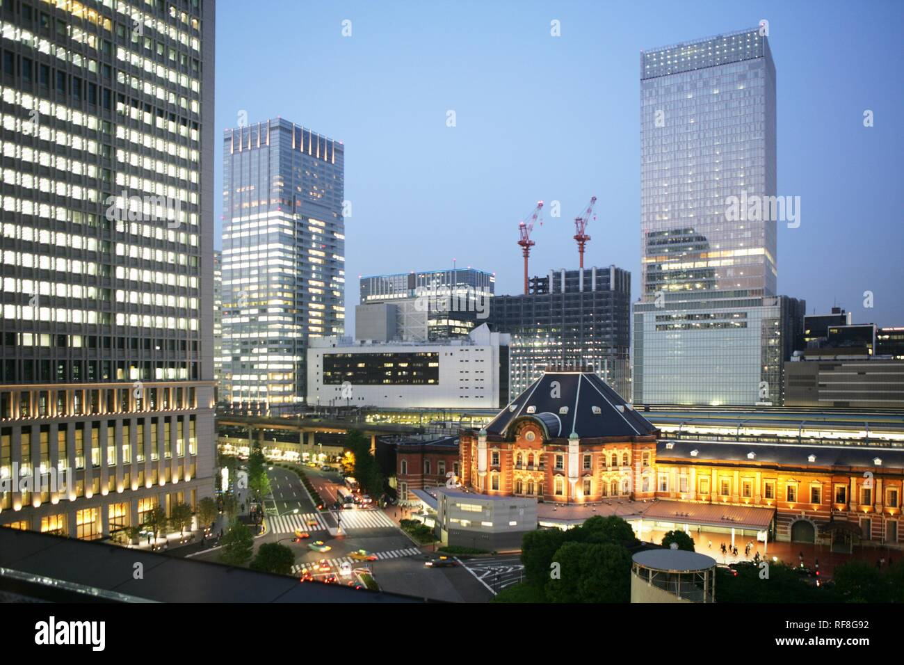 Tokyo Station Area With Its Many New Buildings Office
