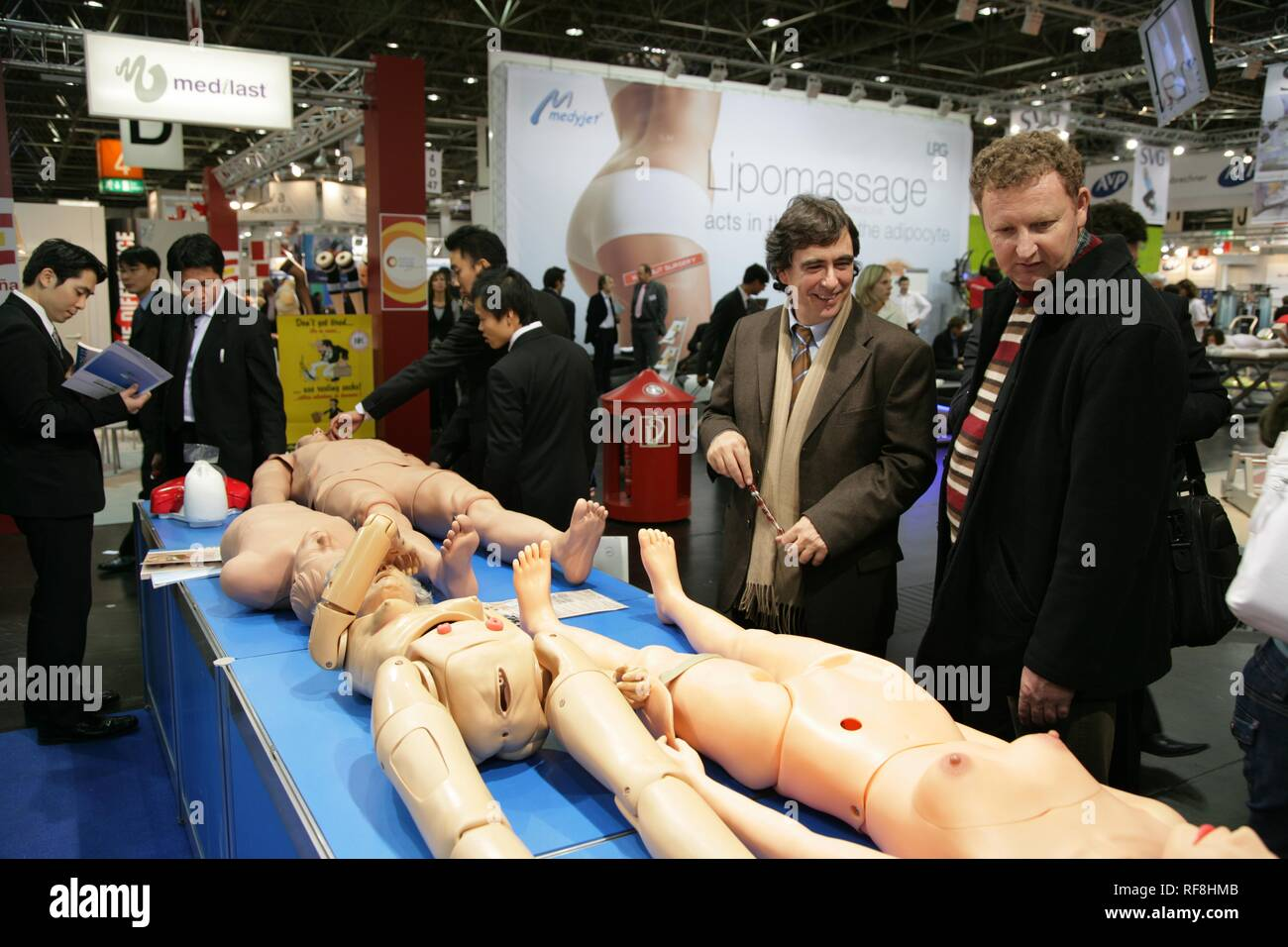 Medica 2007, world's biggest trade show for medical equipment and technologies, Duesseldorf, North Rhine-Westphalia - Stock Image