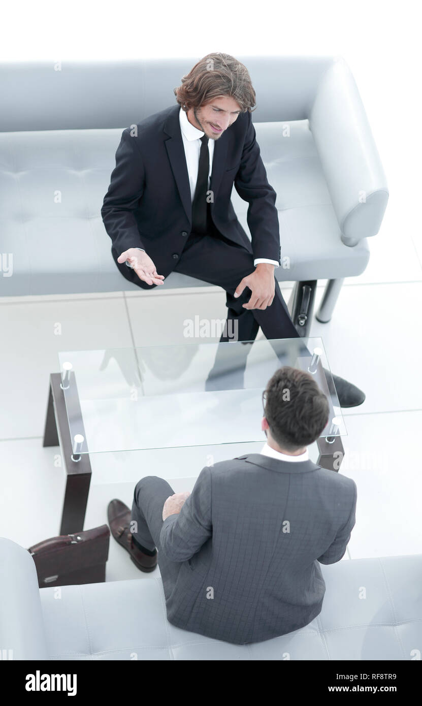 dialogue between two business people - Stock Image