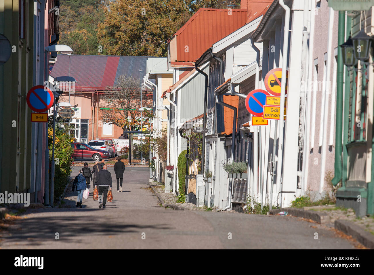 MARIEFRED Södermanland old wooden town south of Stockholm - Stock Image