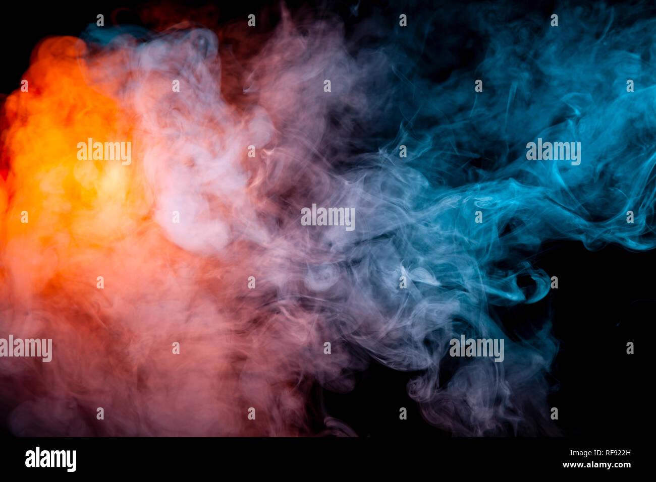 Abstract Blue Smoke Wallpaper Design Stock Photos