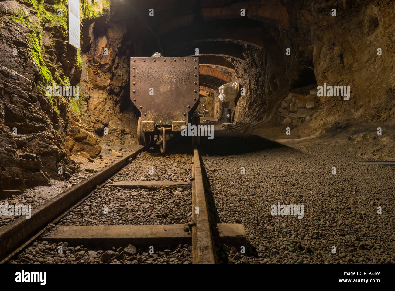 View of a mine shaft of the abandoned coal mine at the Museum für Industriekultur, Osnabrück - Stock Image