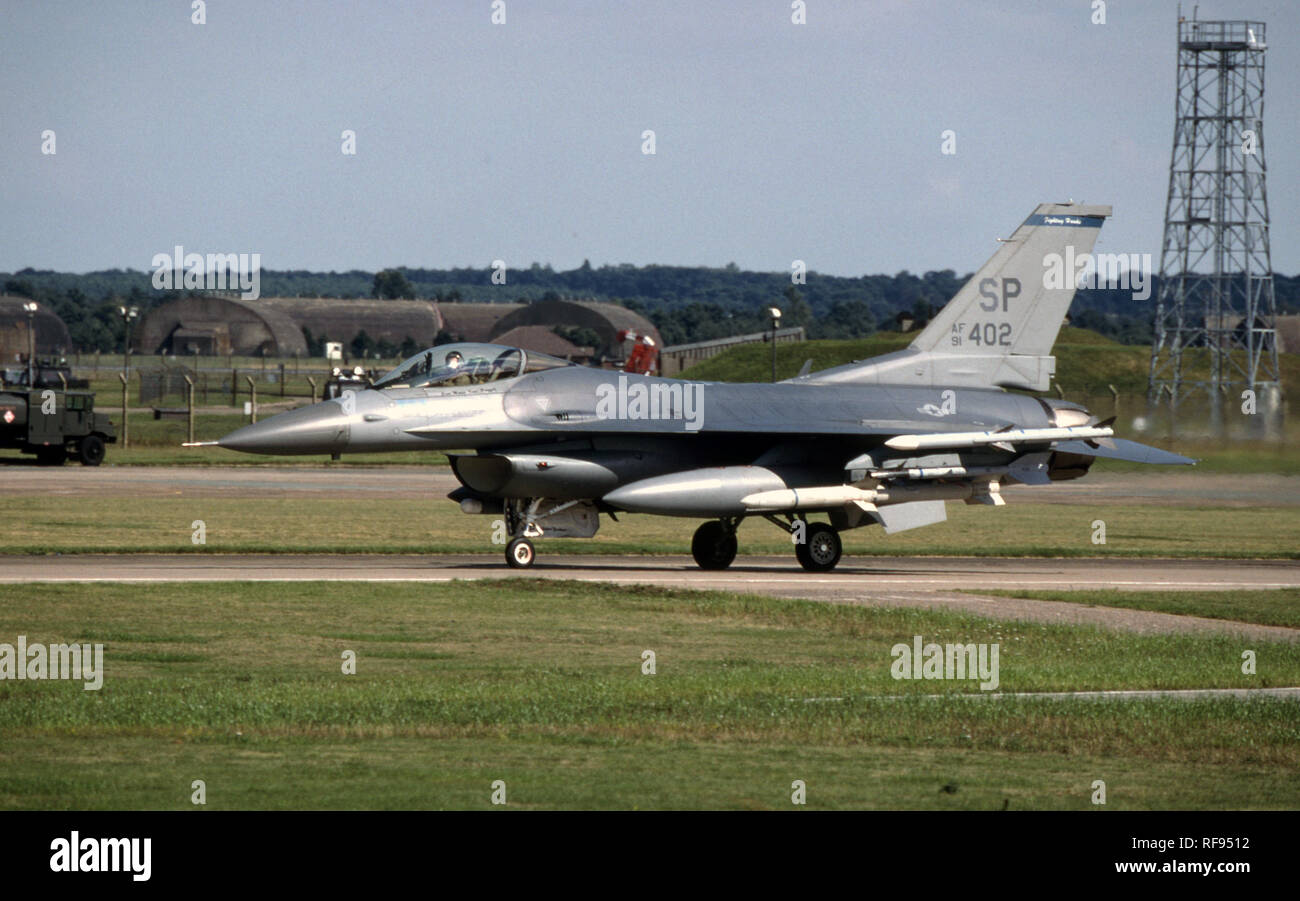 USAF United States Air Force General Dynamics F-16C Fighting Falcon - Stock Image
