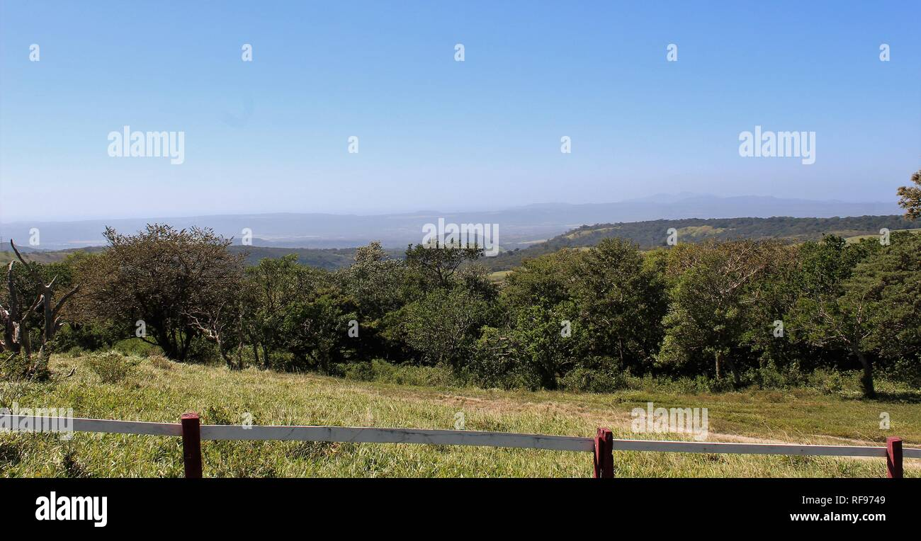 Costa Rica Landscape from mountain with clear sky - Stock Image