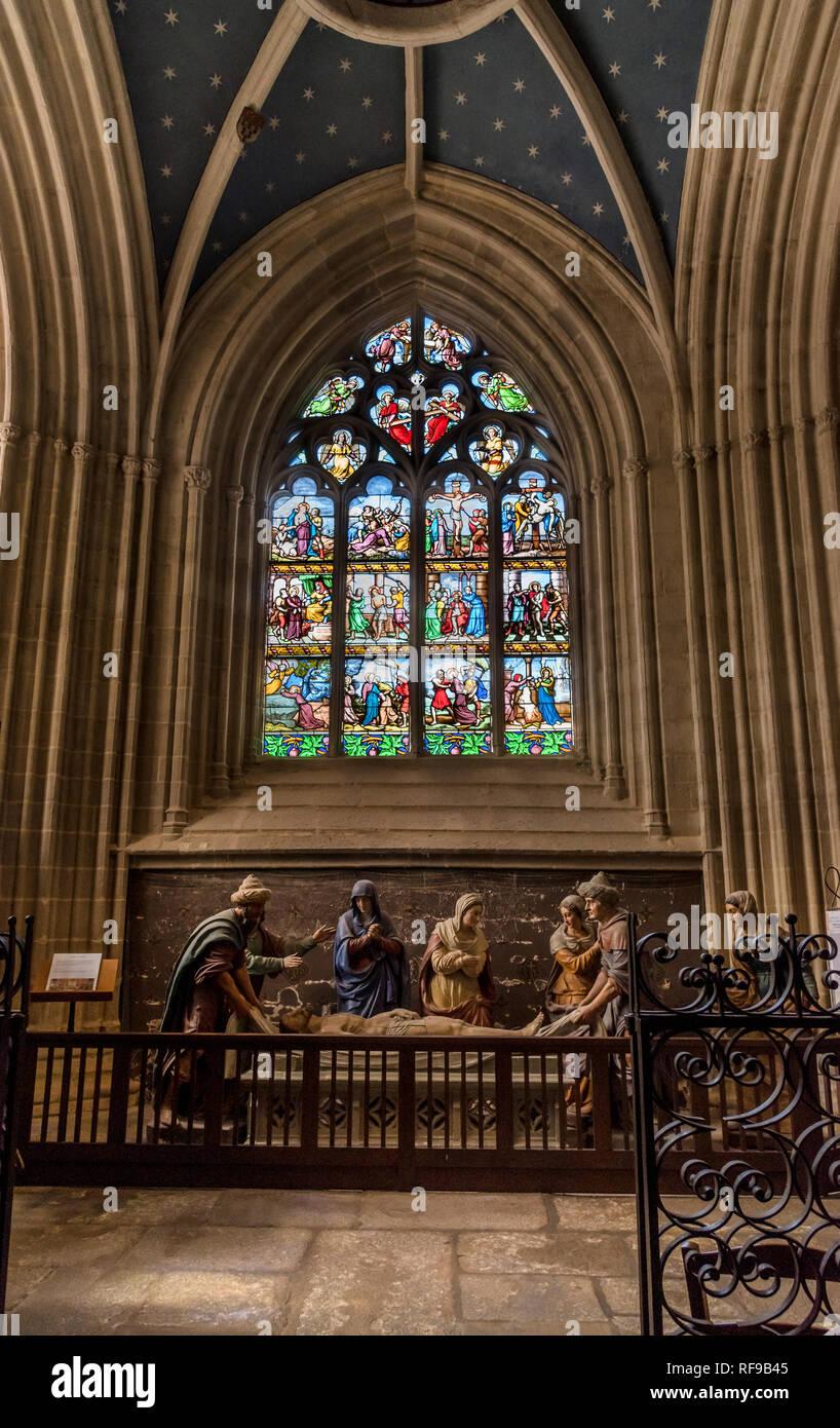 La chapelle de Sėpulcre of Quimper Cathedral Stock Photo