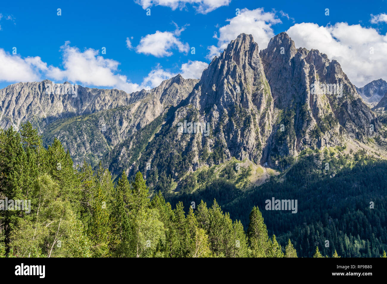 'The Enchanted' Mountain in St. Maurici National Park (Catalonia, Spain). - Stock Image