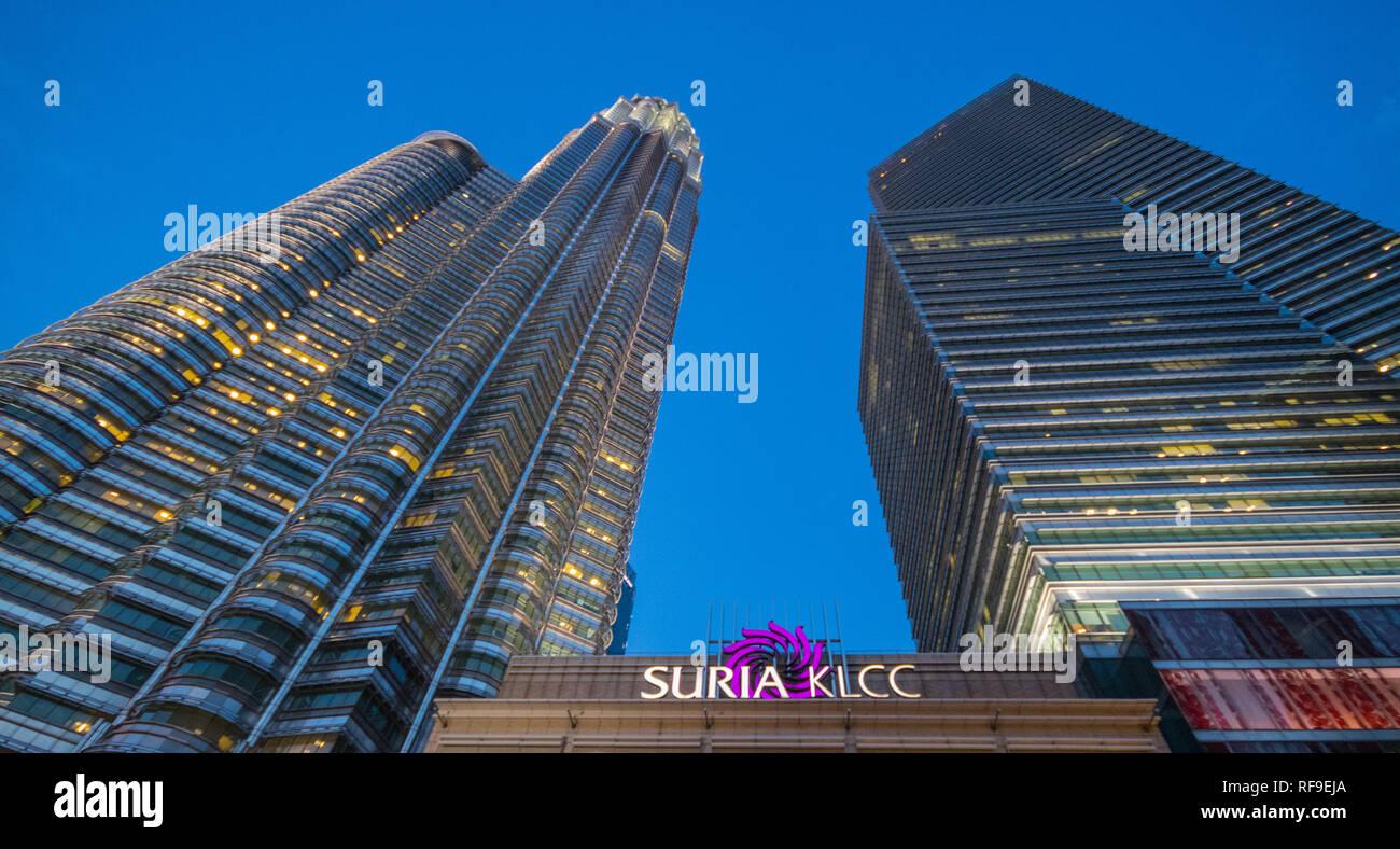 Petronas Towers, Kuala Lumpur City Centre (KLCC), Malaysia Stock Photo