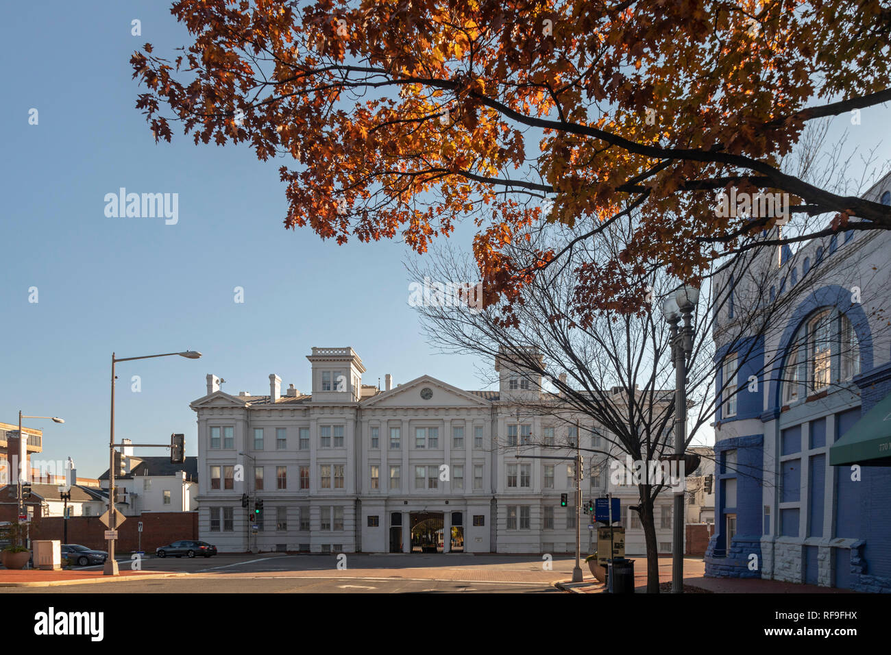 Washington, DC - The main gate of the Washington Navy Yard. Stock Photo