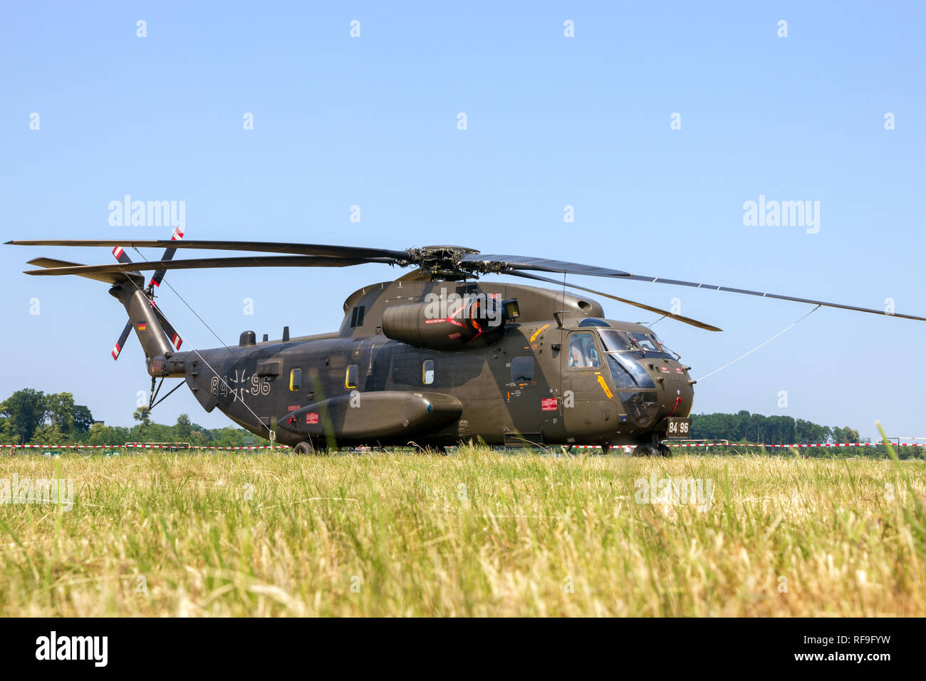NORVENICH, GERMANY - JUNE 12, 2015: German army Sikorsky CH-53 Stallion transport helicopter at Norvenich airbase. - Stock Image