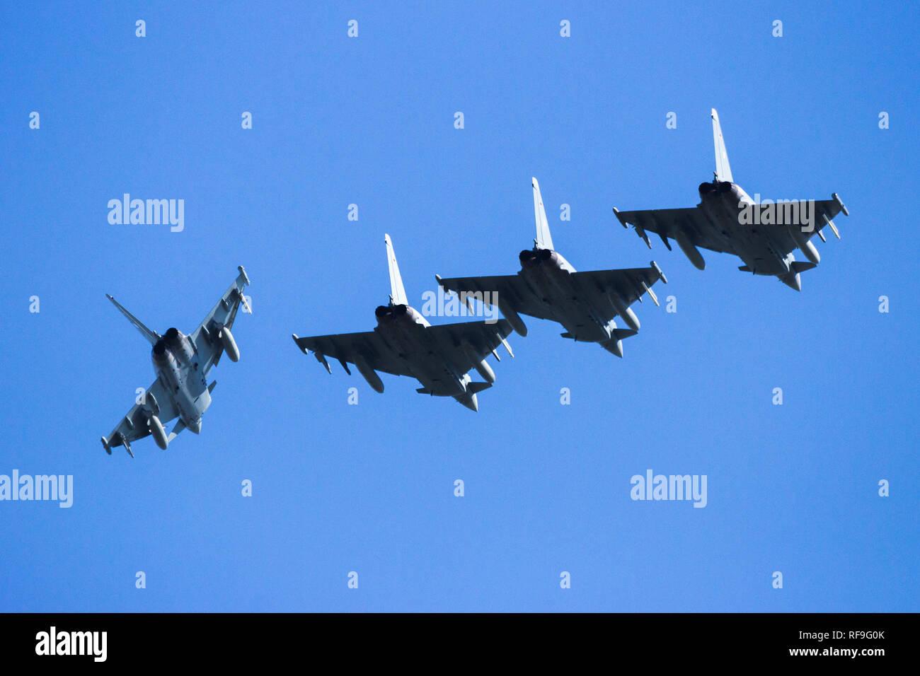 LEEUWARDEN, THE NETHERLANDS - APR 21, 2016: German Air Force