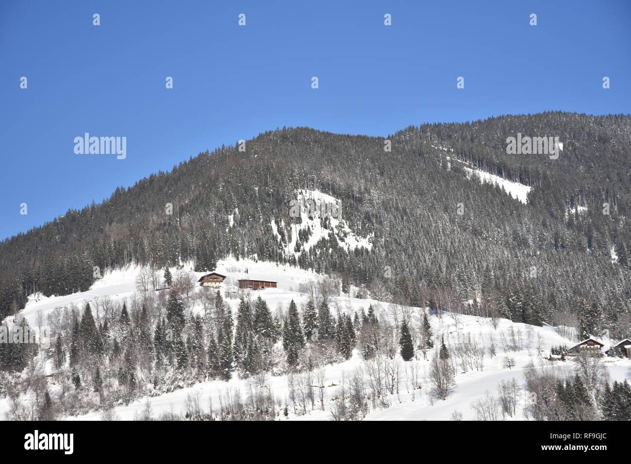 Kaprun, Salzburg, Pinzgau, Winter, Schnee, Eis, Wintersport, Gondel, Gipfel, Gletscher, Salzach, Salzachtal, Kitzsteinhorn, Hohe Tauern, Stock Photo