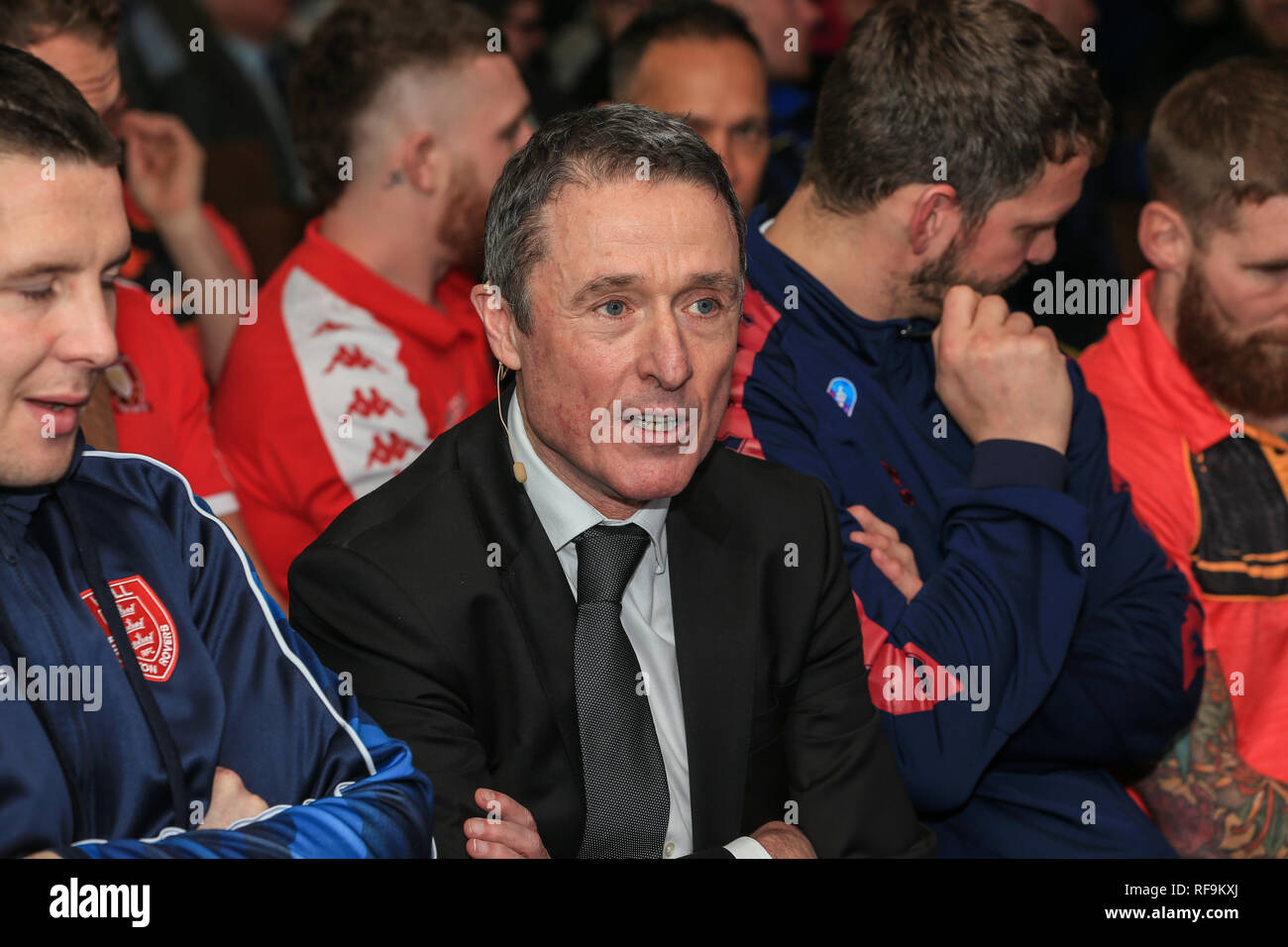 24th January 2019, Old Trafford, Manchester, England, Betfred Super League Launch 2019 ; Robert Elstone CEO of the RFL   Credit: Mark Cosgrove/News Images - Stock Image