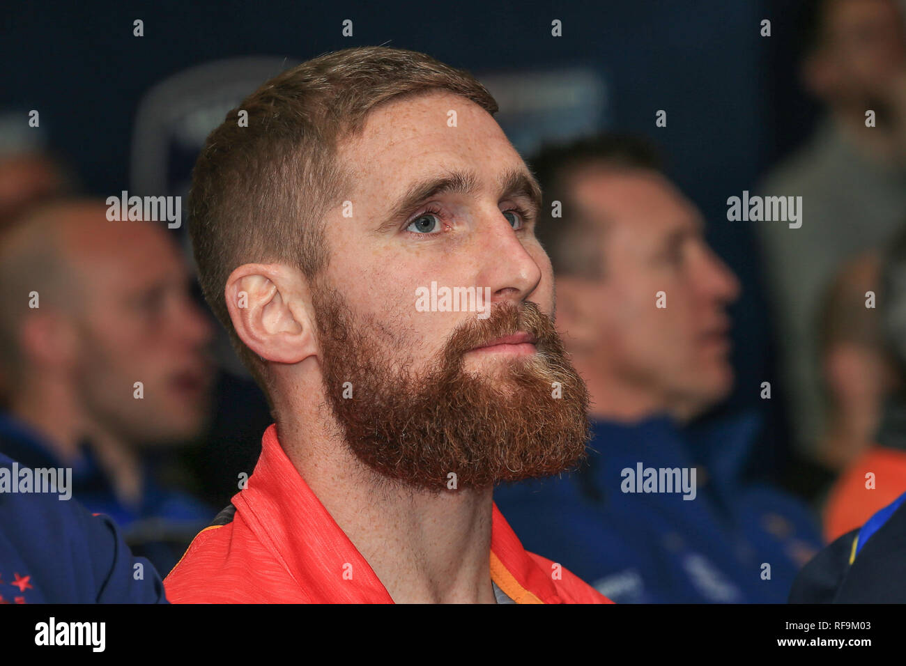 24th January 2019, Old Trafford, Manchester, England, Betfred Super League Launch 2019 ; Sam Tomkins of Catalans Dragons   Credit: Mark Cosgrove/News Images - Stock Image