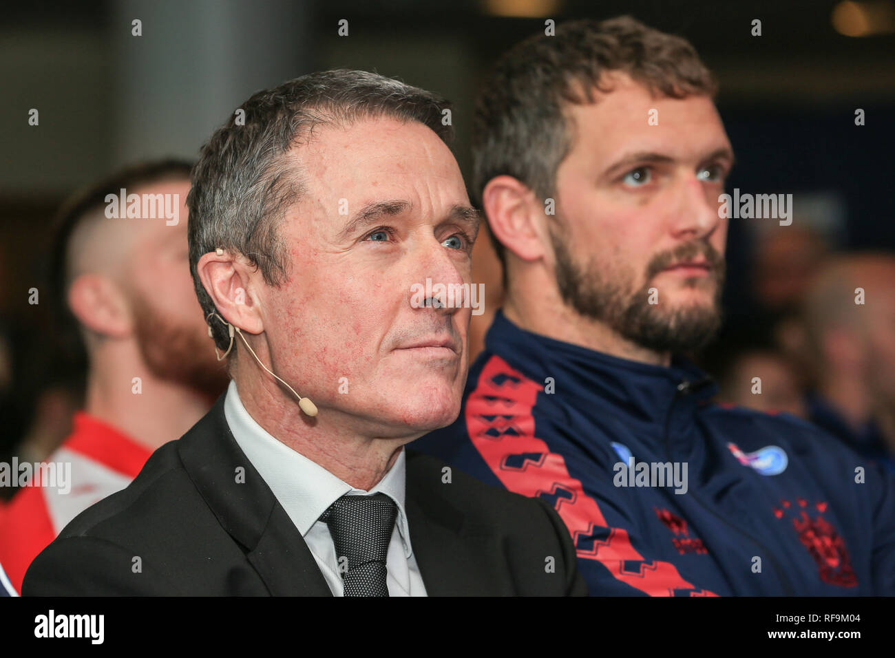 24th January 2019, Old Trafford, Manchester, England, Betfred Super League Launch 2019 ; ,Robert Elstone CEO of the RFL    Credit: Mark Cosgrove/News Images - Stock Image