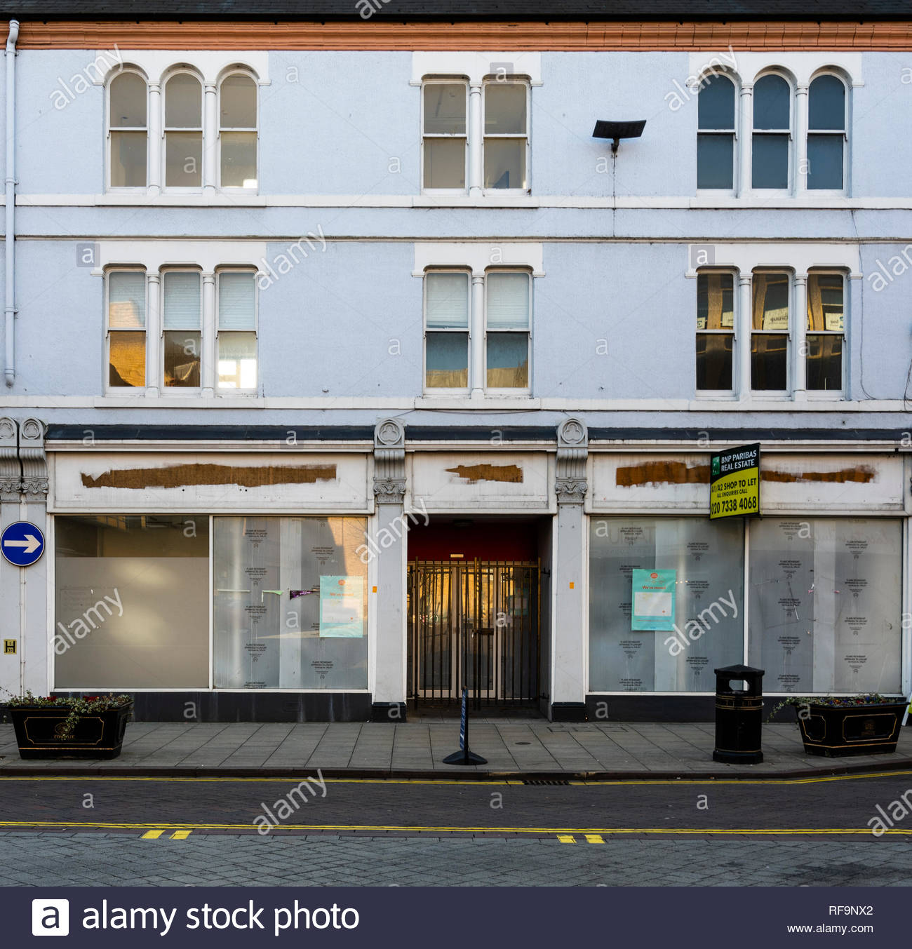 The former Main Post Office building in Cowgate, Peterborough, which moved to WH Smith in 2016 and has been unoccupied ever since - Stock Image