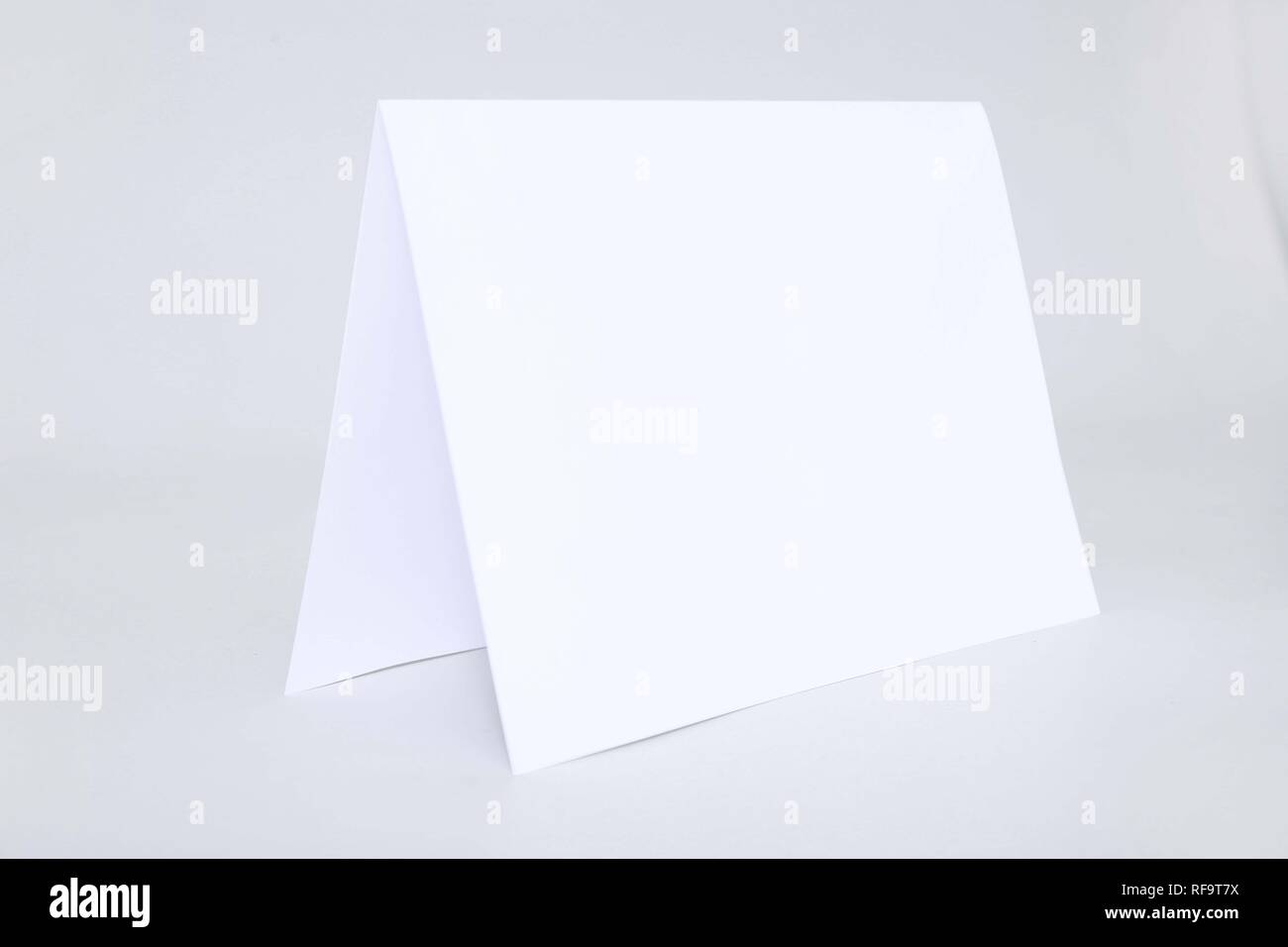 Picture of empty greeting card. Isolated on the white background. Stock Photo