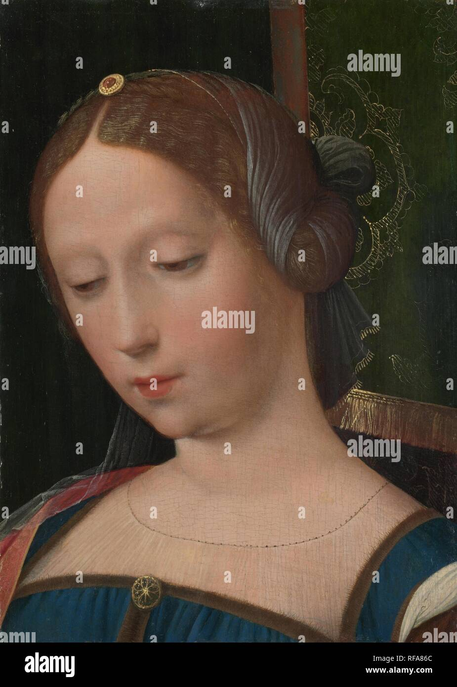 A Female Head. Museum: National Gallery, London. Author: Master of the Female Half-Lengths. - Stock Image