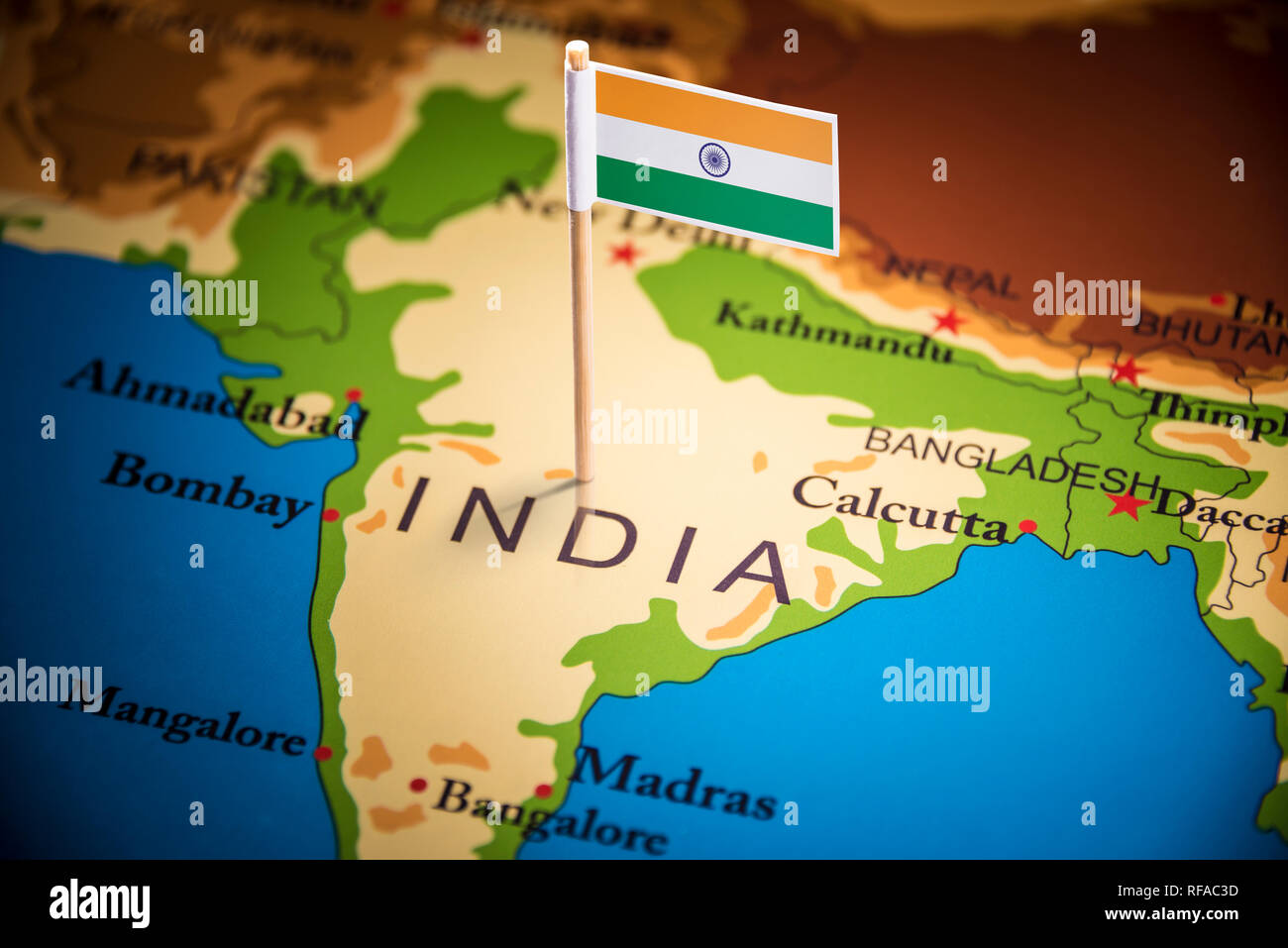 Indian Map Flag Stock Photos & Indian Map Flag Stock Images ...