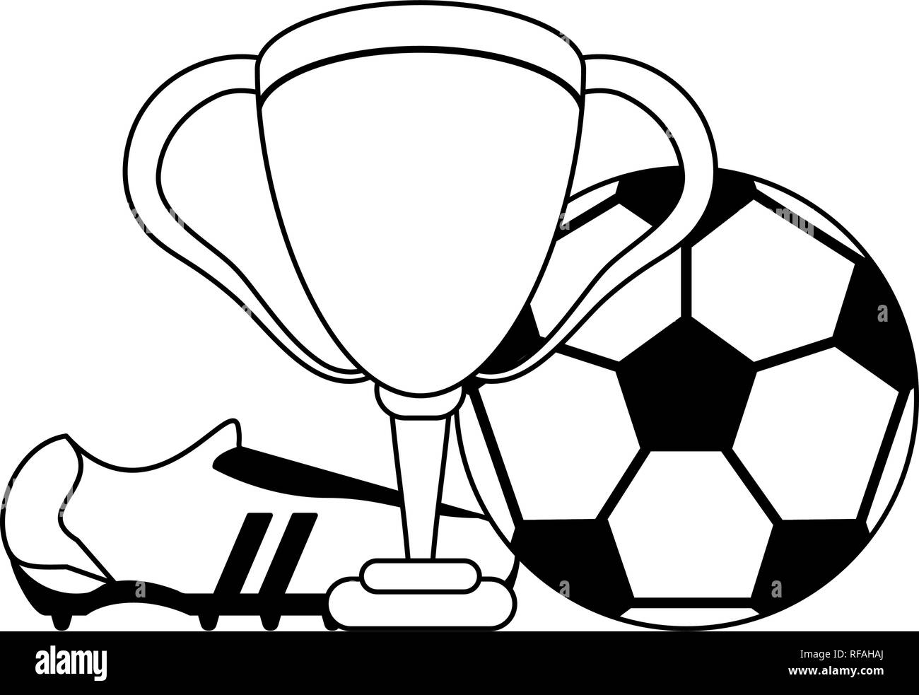 Soccer Game Sport In Black And White Stock Vector Art