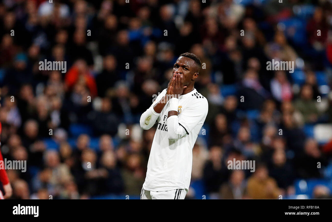 9d398dfeb3b Vinicius Jr (Real Madrid) seen reacting during the Copa del Rey Round of  quarter