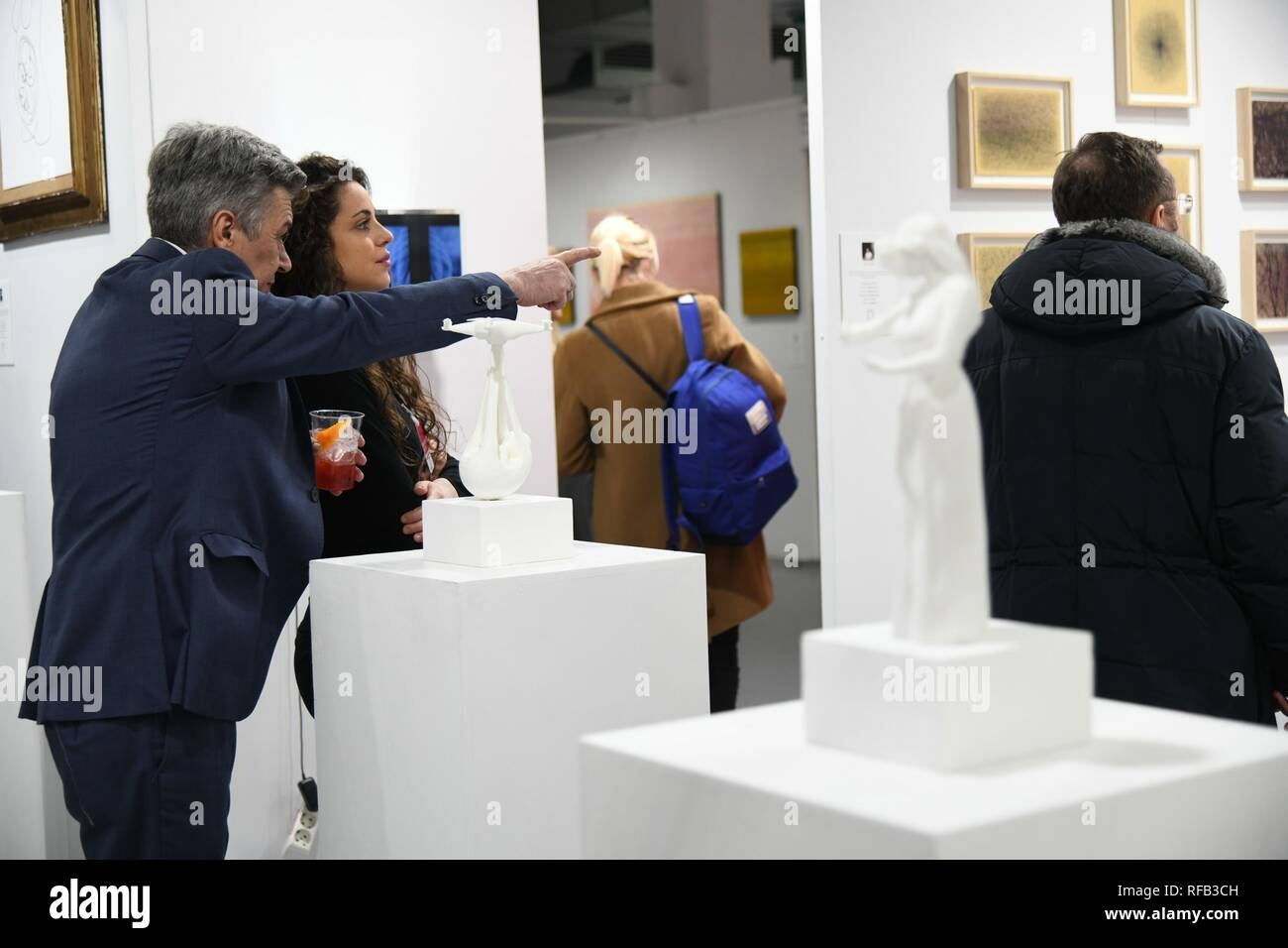 Milan, 24 January 2019 - Back Affordable Art Fair, the contemporary art fair that over the years has conquered the heart of the Milanese, bringing in their homes beauty, creativity and emotions contained in the works, for sale up to 6,000 euros. Lose yourself in art is the slogan and fil rouge of the 2019 edition, scheduled for Superstudio Più from 25 to 27 January (inauguration on 24th evening by invitation or online presale), with the participation of 85 galleries from all over the world. So many new features in the labyrinthine space of Affordable Art Fair, because to find yourself sometim Stock Photo