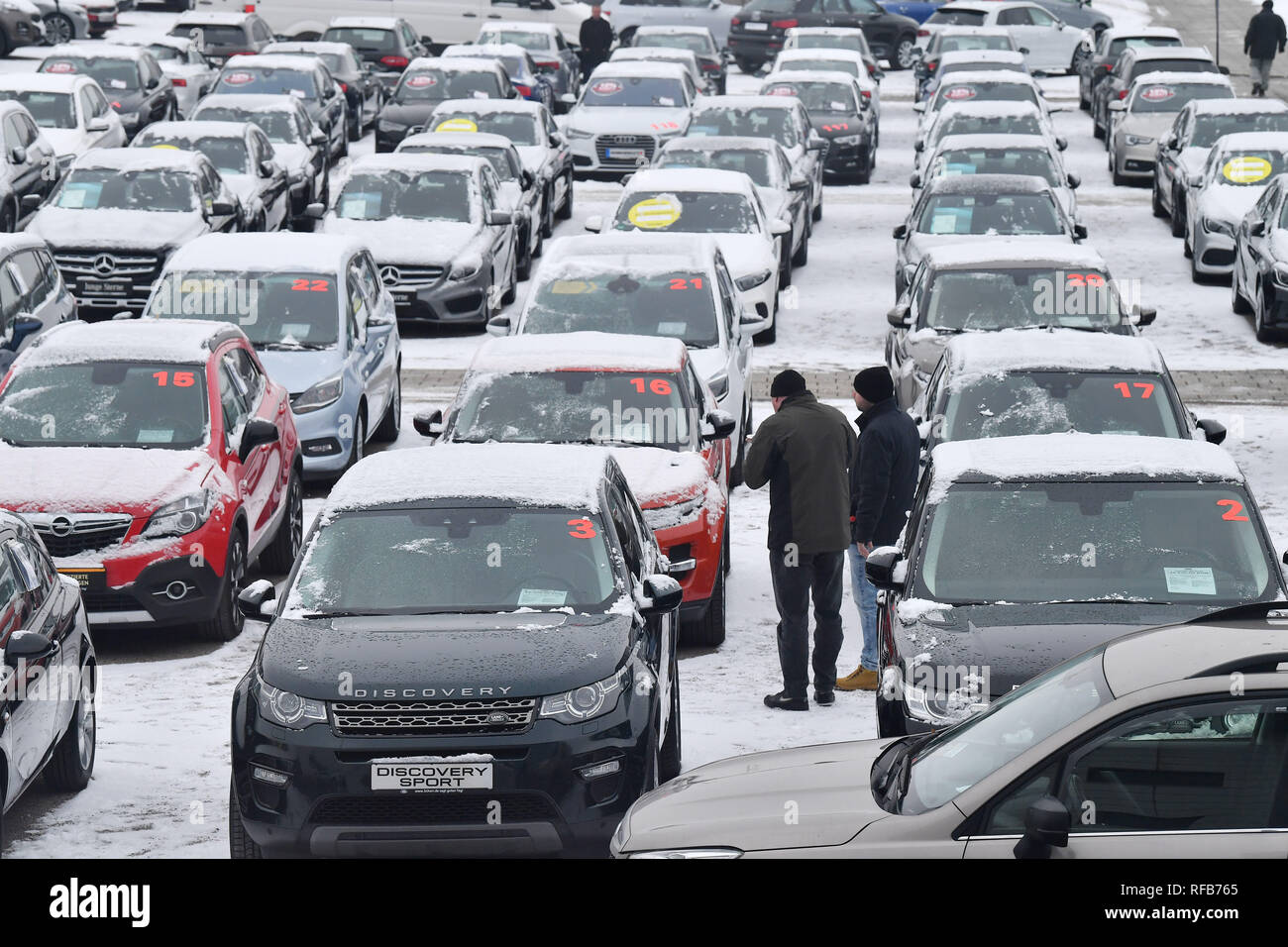 Erfurt Germany 25th Jan 2019 Used Cars Are Offered For Sale At