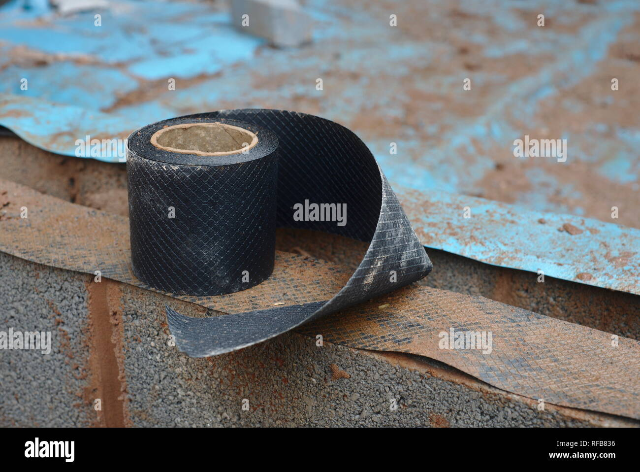Damp proof course - Stock Image