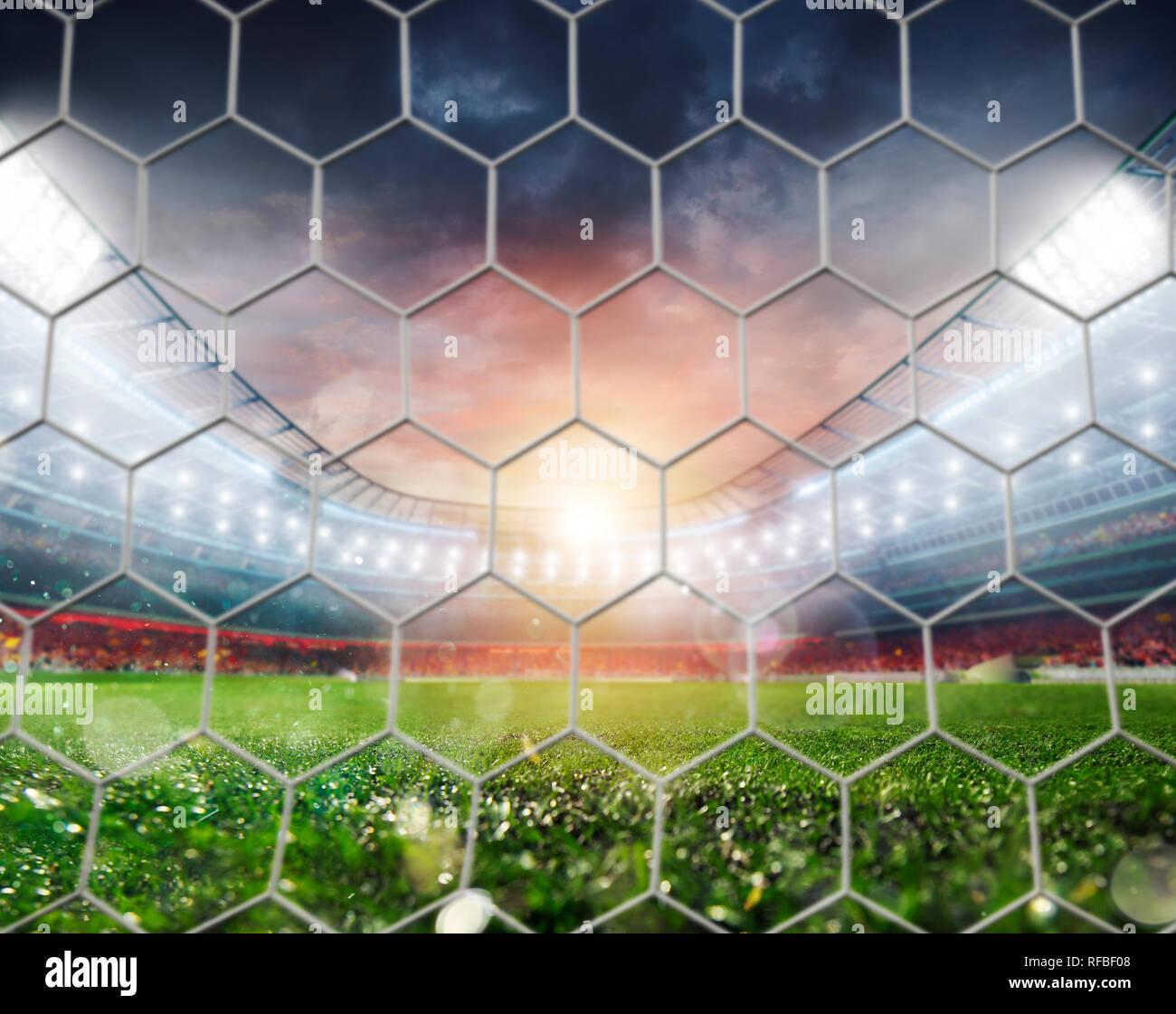 Empty door of a football stadium before soccer match - Stock Image
