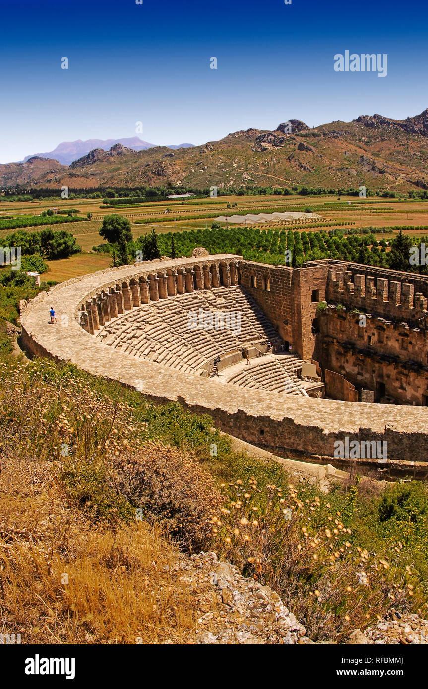 Aspendos Roman Theatre, Antalya province. Turkey - Stock Image