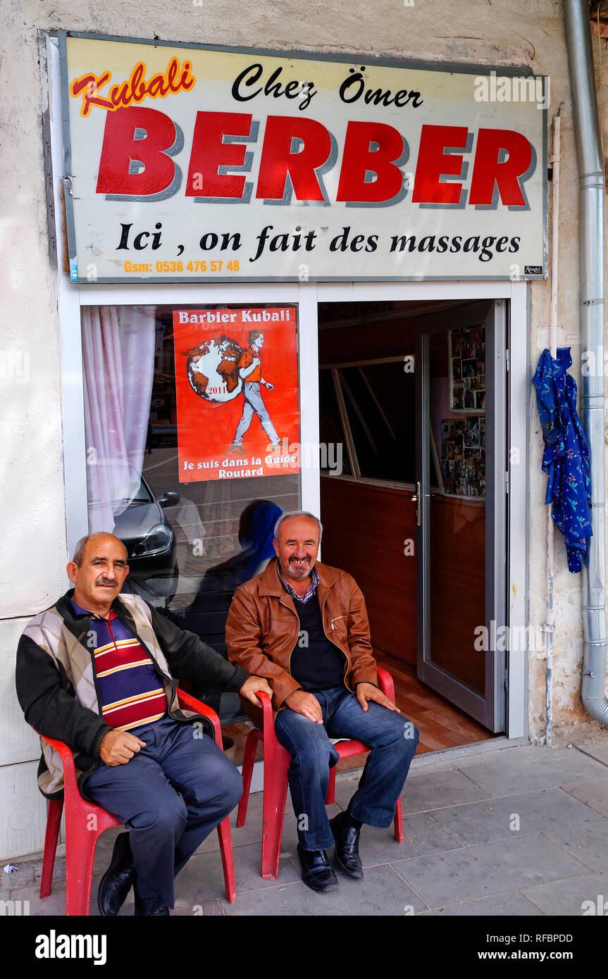 Barber at Avanos. Cappadocia. Central Anatolia Region, Turkey - Stock Image