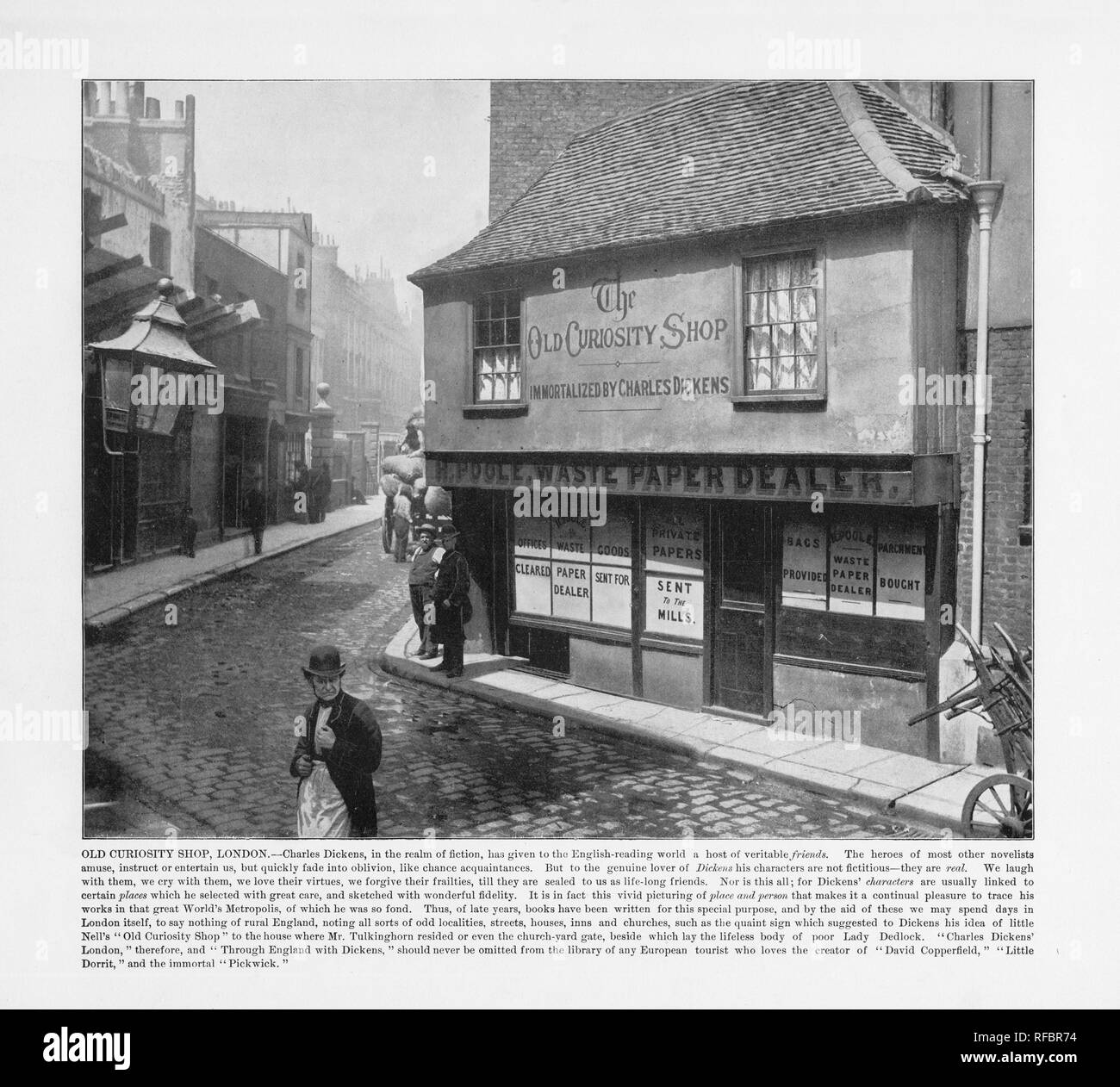 Old Curiosity Shop, London, Antique London Photograph, 1893