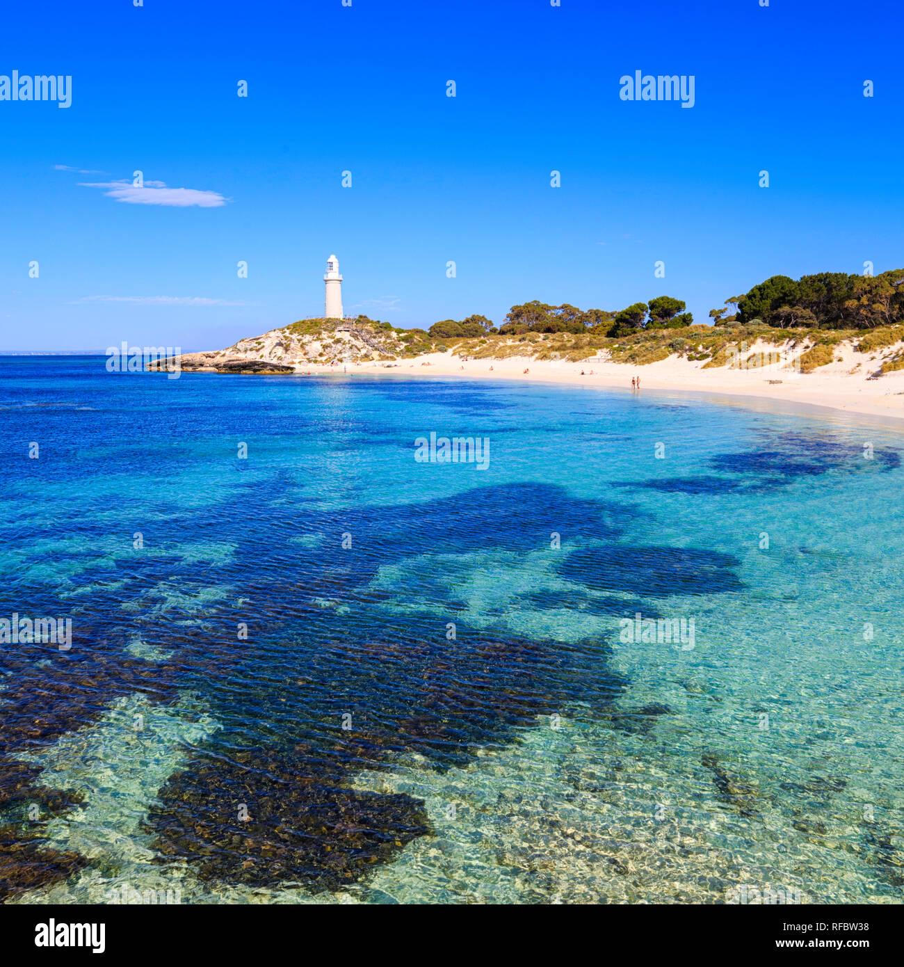 Pinky Beach and Bathurst Lighthouse - Stock Image